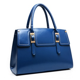 Auspicious Retro Large Capacity Buckle Pu Leather Women's Bag