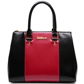 Soft Color Block Women Satchel
