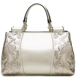 European Style Patent Leather Women Satchel
