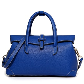 European Style Solid Color Thread Women Satchel