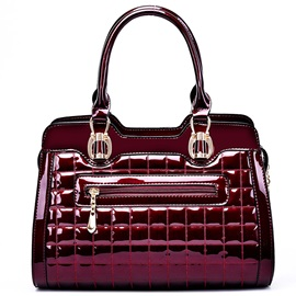 Euramerican Plaid Pattern Women's Handbag
