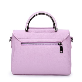 Pure Color Top Handle Women's Bag