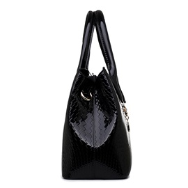 Fashion Pattern Decorated Pure Color Women's Handbag