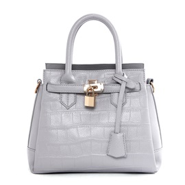 Fashion Lock Decorated with Belt Women's Satchel