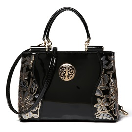 High Quality Floral Decorated Women's Handbag