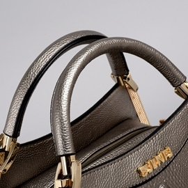 Solid Croco-embossed Women's Satchel