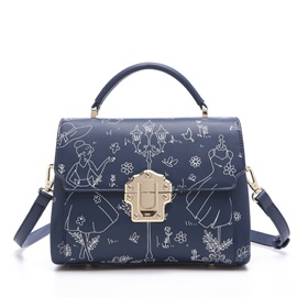 Fairy Tale Briefcase Style Women's Satchel