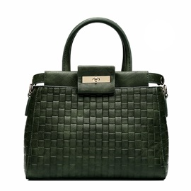 Trends Knitted Metal Rotate Latch Satchel