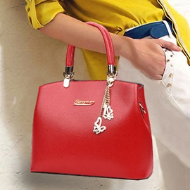 Loving Butterfly Pendant Zipper Satchel
