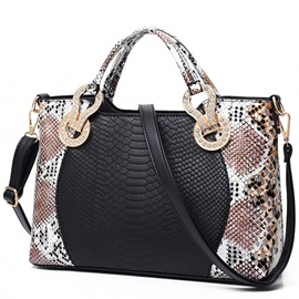 Vogue Upscale Serpentine Embossed Women Satchel