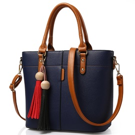 Trendy Tassel Decorated Women Satchel