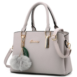 Cool Pure Color Lichee Pattern Women Satchel