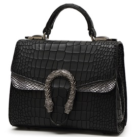 Cool Temperament Croco-Embossed Women Satchel
