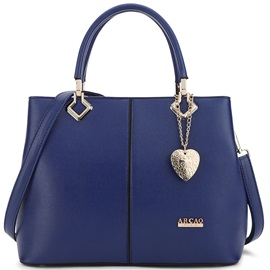 Trendy Peach Heart Pendant Women Satchel