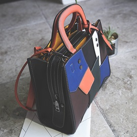 Personality Colorful Patchwork Women Satchel