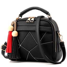 Vogue Irregular Geometric Pattern Women Satchel