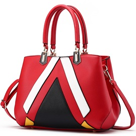 Color Block Geometric Women Satchel