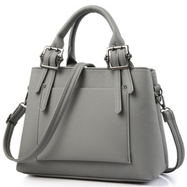 All Match Thread Decorated Women Satchel