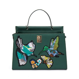 Ethnic Bird Flower Embroidery Women Satchel