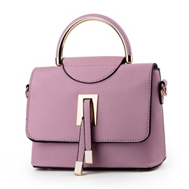 Vogue Solid Color PU Women Satchel