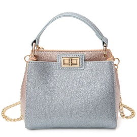 Color Blocking Latch Design Satchel