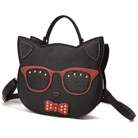 Unique Cat head Shape Crossbody Bag