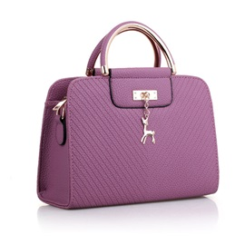 Elegant Solid Color Women Satchel