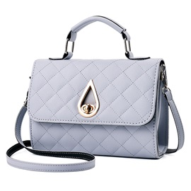 Solid Color Ling Plaid Satchel