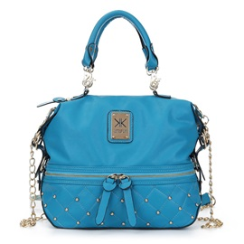 Fashion Rivets Decoration Chain Satchel