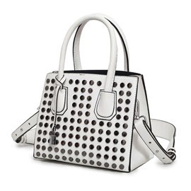 Korean Style Rivets Adornment Women Satchel