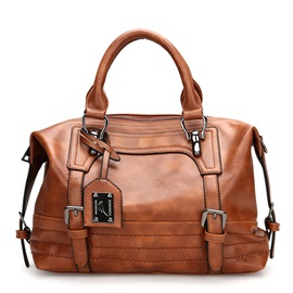 Retro Belt-Decorated Women Satchel