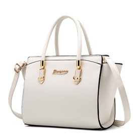 Ladylike Solid Color Women Satchel