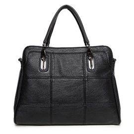 Casual Huge Capacity Zipper PU Handbag