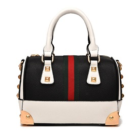 Vogue Color Block Rivet Women Satchel