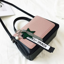 Trendy Pendant Color Block Handbag