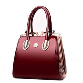 High End Patent Leather Square Satchel
