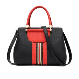 Trendy Patchwork Zipper Women Satchel