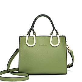 Ladylike Solid Color Zipper Female Satchel