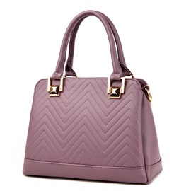 All Match Solid Color PU Women Satchel