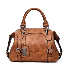 Classic Boston Women PU Satchel