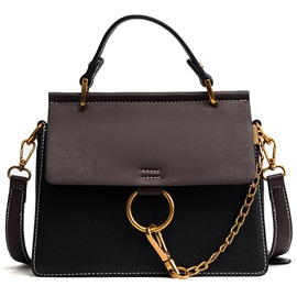 Trendy Color Block Thread Women Satchel