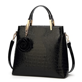 Classical Croco-Embossed Women Tote