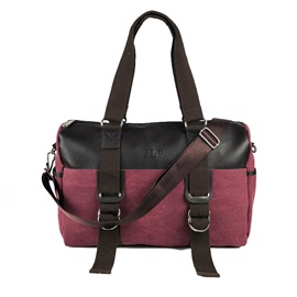 Casual Color Block Nylon Women Satchel