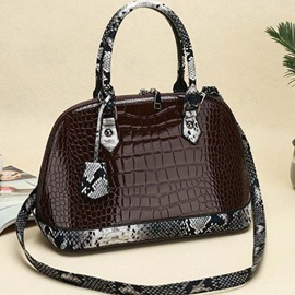 Alligator PU Thread Shell Handbag