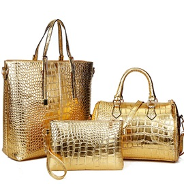 Top Quality Fashion Crocodile Women Bag Set