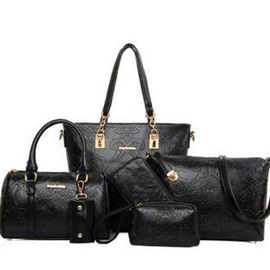 Beautiful Solid Embossing Women's Bag Set