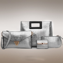 Crocodile Letter Women Bag Set(4 pieces)