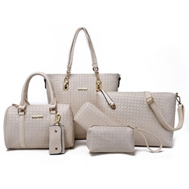 Stylish Woven Style Women's Bag Set ( Six Bags )