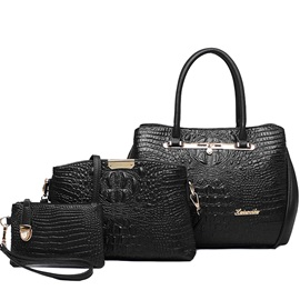 Vintage Sexy Croco-Embossed Bag Set
