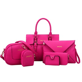 Multi-functional Pure Color Women's Bag Set ( Six Bags )